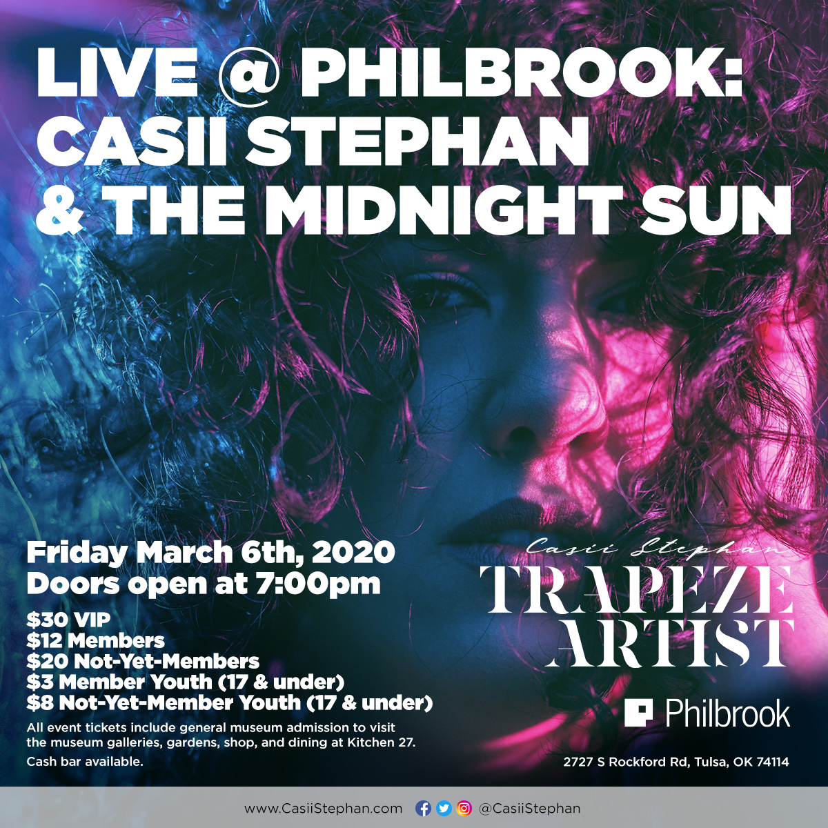 Live at Philbrook: Casii Stephan and The Midnight Sun